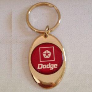 Dodge Solid Brass Keychain