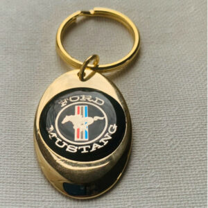 Ford Mustang Solid Brass Keychain