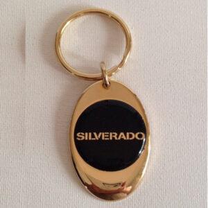 Chevrolet Silverado Solid Brass Keychain