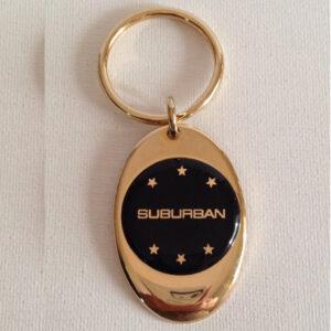 Suburban Solid Brass Keychain