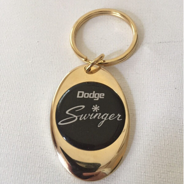 Dodge Swinger Solid Brass Keychain