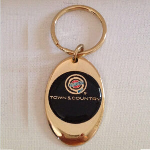 Chrysler Town & Country Solid Brass Keychain