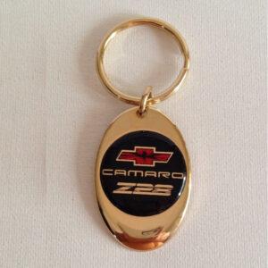 Chevrolet Camaro Z28 Solid Brass Keychain