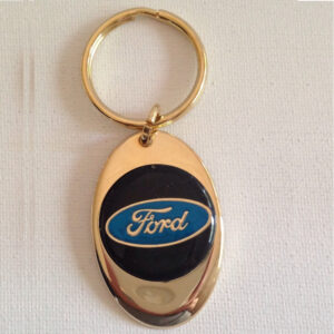 Ford Solid Brass Keychain