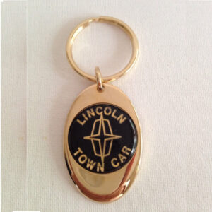 Lincoln Town Car Solid Brass Keychain
