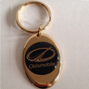 Oldsmobile Solid Brass Keychain
