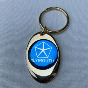 Plymouth Solid Brass Keychain