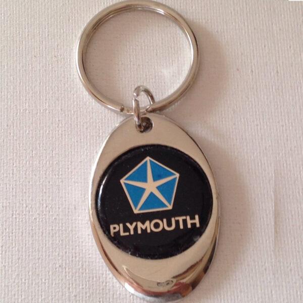 Plymouth Chrome Keychain